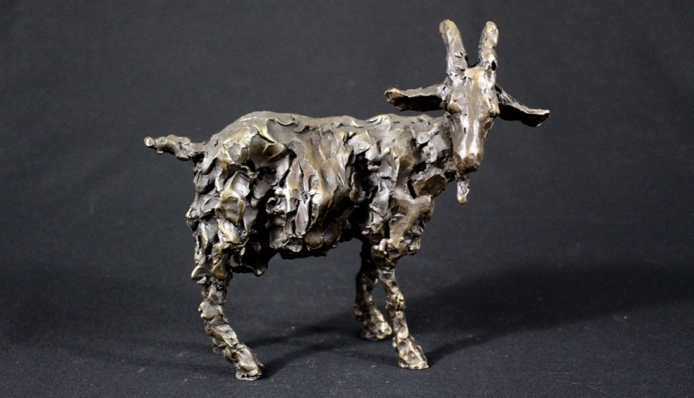 Goat by Laura Pentreath at the Saffron Walden Gallery