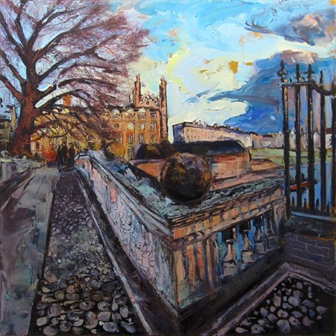 Kings College from Clare College Bridge, Cambridge by Susan Isaac at the Saffron Walden Gallery
