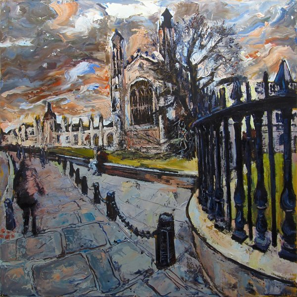 Kings College, Cambridge by Susan Isaac at the Saffron Walden Gallery