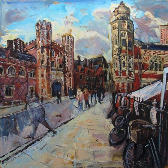St John's College, Cambridge by Susan Isaac at the Saffron Walden Gallery