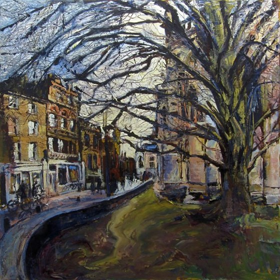St John's Street, Cambridge by Susan Isaac at the Saffron Walden Gallery