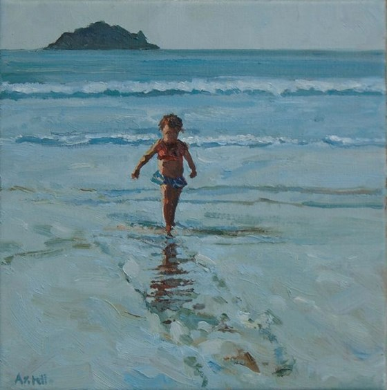 Little Beach Girl by David Axtell at the Saffron Walden Gallery