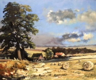 Suffolk Harvest by Roger Harvey at the Saffron Walden Gallery