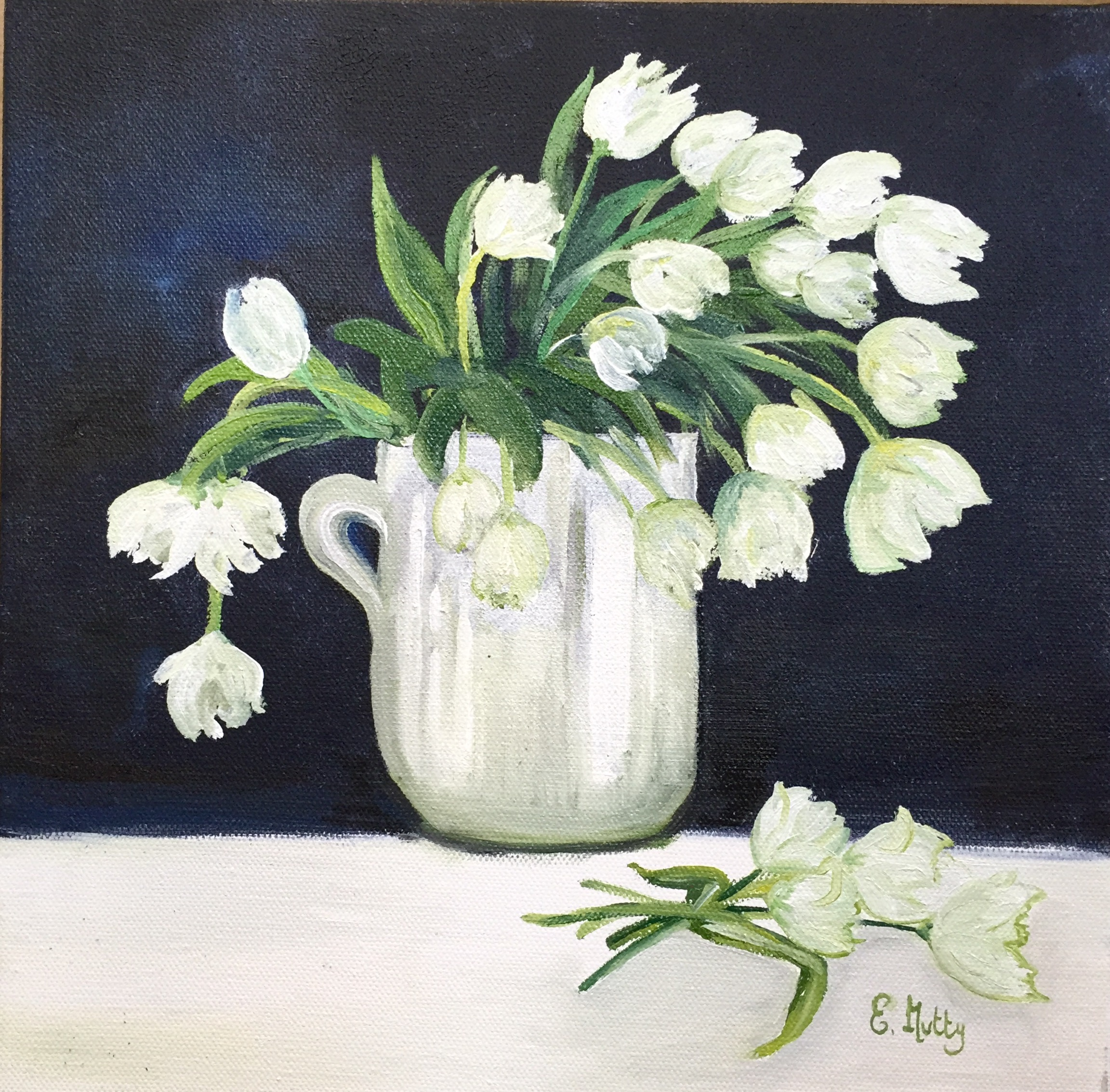 White Tulips by Elisabetta Mutty at the Saffron Walden Gallery