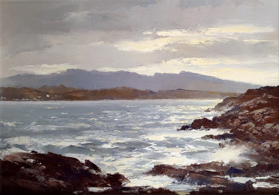 After the Storm, Sound of Sleat by William James Swann at the Saffron Walden Gallery