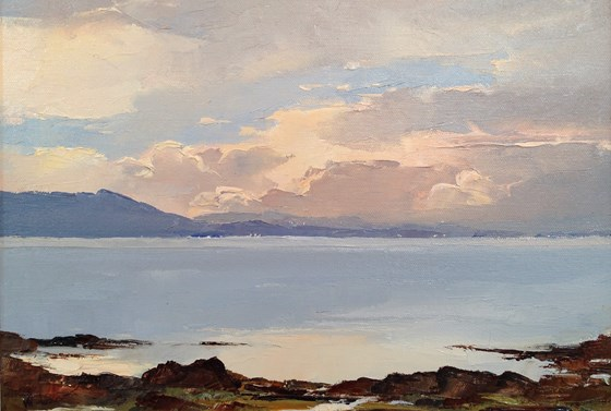 Dawn Over the Sound of Sleat by William James Swann at the Saffron Walden Gallery