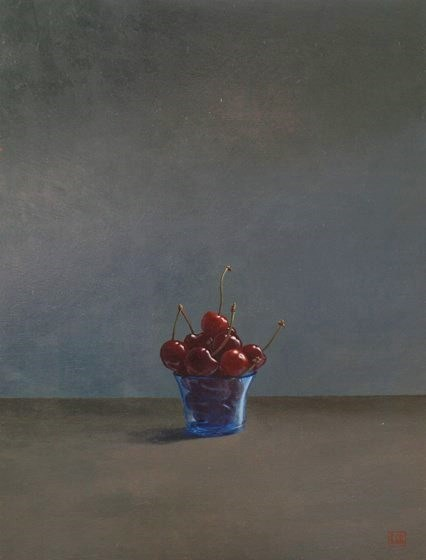 Cherries by David Paul Gleeson at the Saffron Walden Gallery