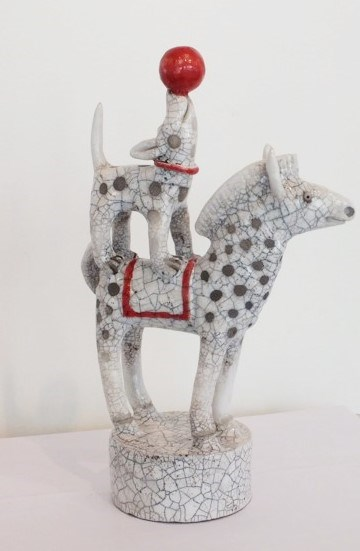 Circus Dogs by Demelza Whitley at the Saffron Walden Gallery
