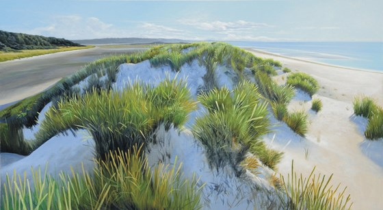 Warm Afternoon Wells next the Sea by Daniel Hutchings at the Saffron Walden Gallery