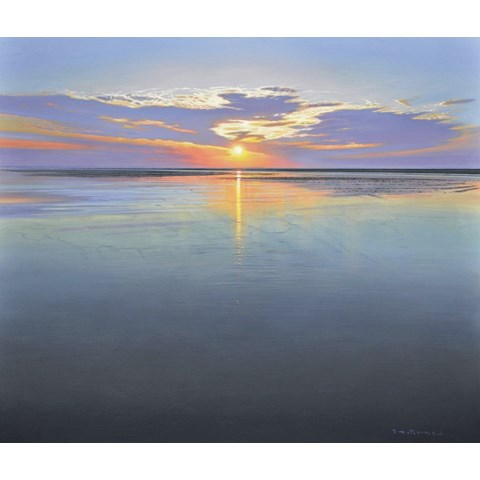Sunset at Wells next the Sea by Daniel Hutchings at the Saffron Walden Gallery