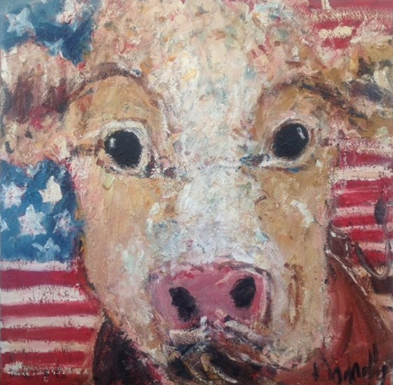 American Cow by Deborah Donnelly at the Saffron Walden Gallery