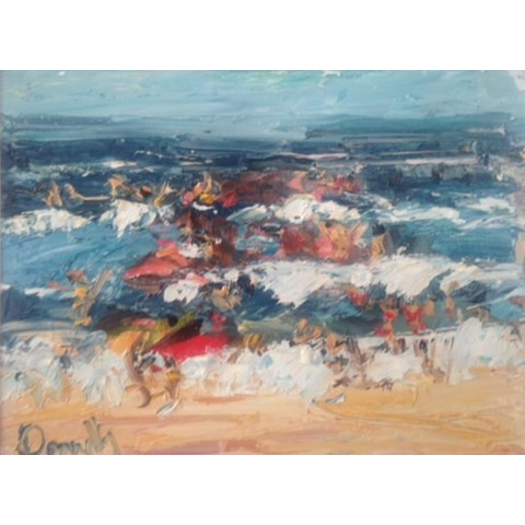 In the Surf by Deborah Donnelly at the Saffron Walden Gallery