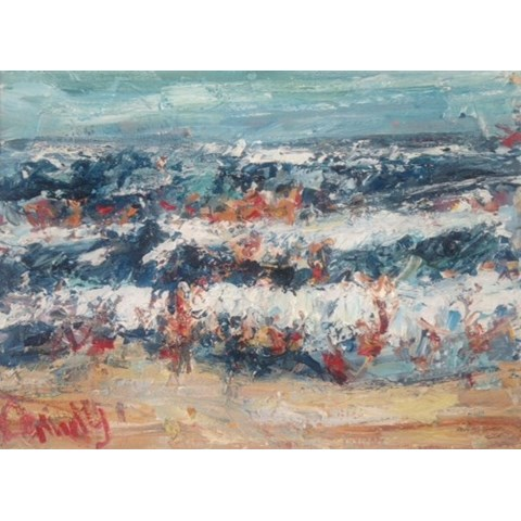 Jumping the Waves by Deborah Donnelly at the Saffron Walden Gallery