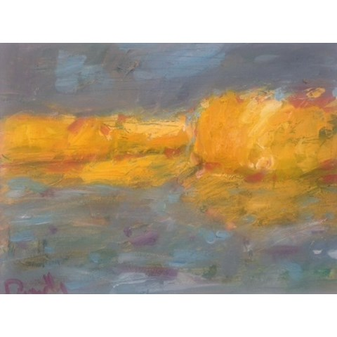 Golden Landscape by Deborah Donnelly at the Saffron Walden Gallery