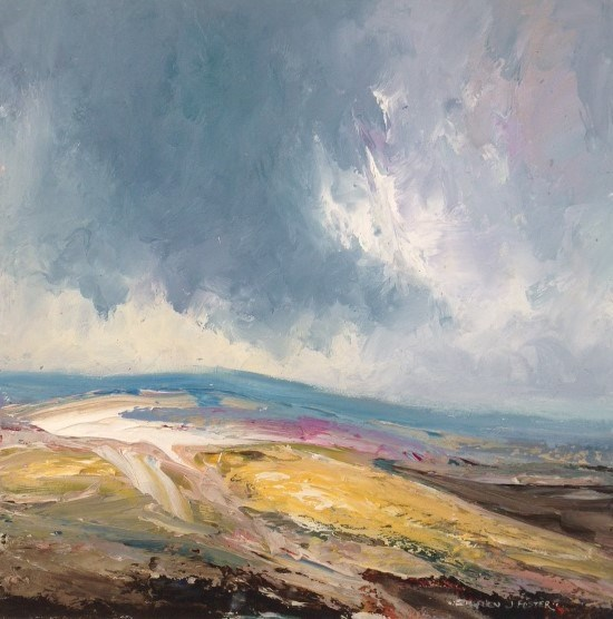 Purbeck Heath Study by Stephen J Foster at the Saffron Walden Gallery