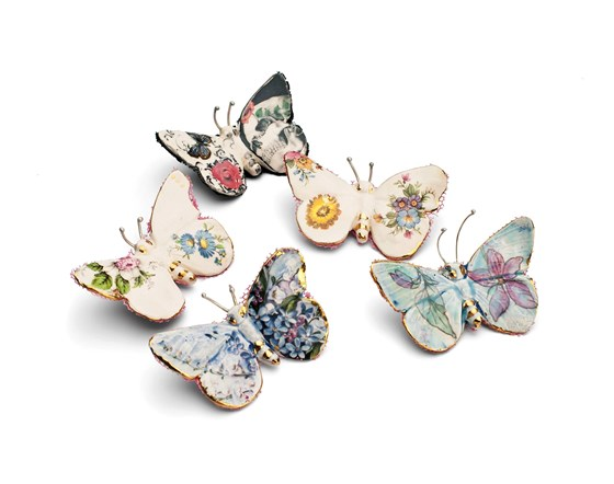 Butterfly Brooches by Remon Jephcott at the Saffron Walden Gallery