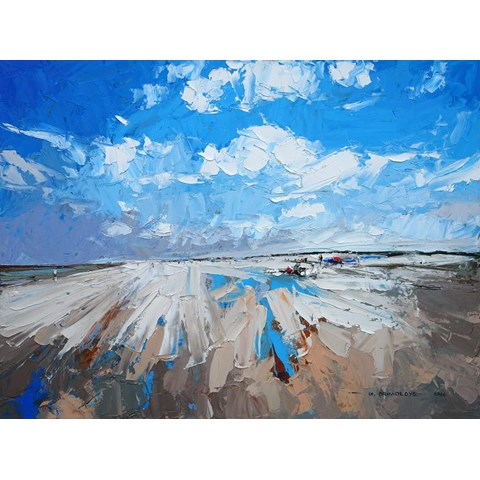 Holkham Beach by Daniel Gbenga Orimoloye at the Saffron Walden Gallery