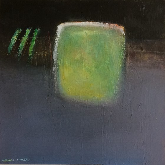 Green Fuse II by Stephen J Foster at the Saffron Walden Gallery