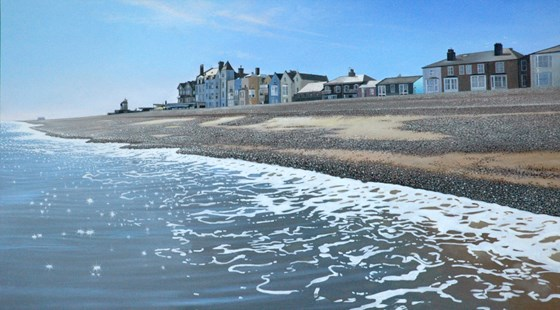 Aldeburgh Beach by Daniel Hutchings at the Saffron Walden Gallery