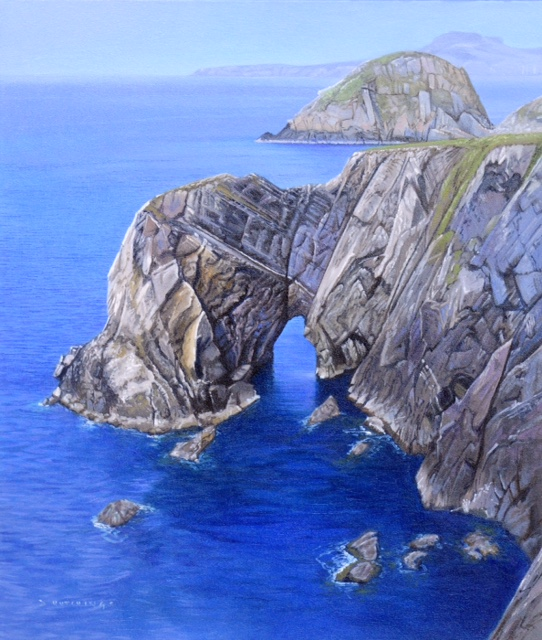Pembrokeshire Cliffs by Daniel Hutchings at the Saffron Walden Gallery