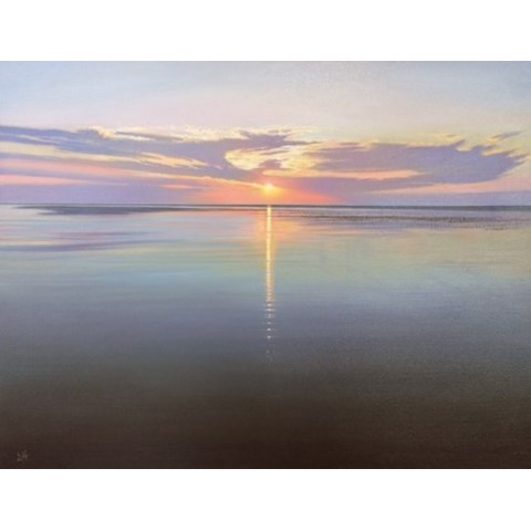 Wells Next the Sea Sunset Study by Daniel Hutchings at the Saffron Walden Gallery