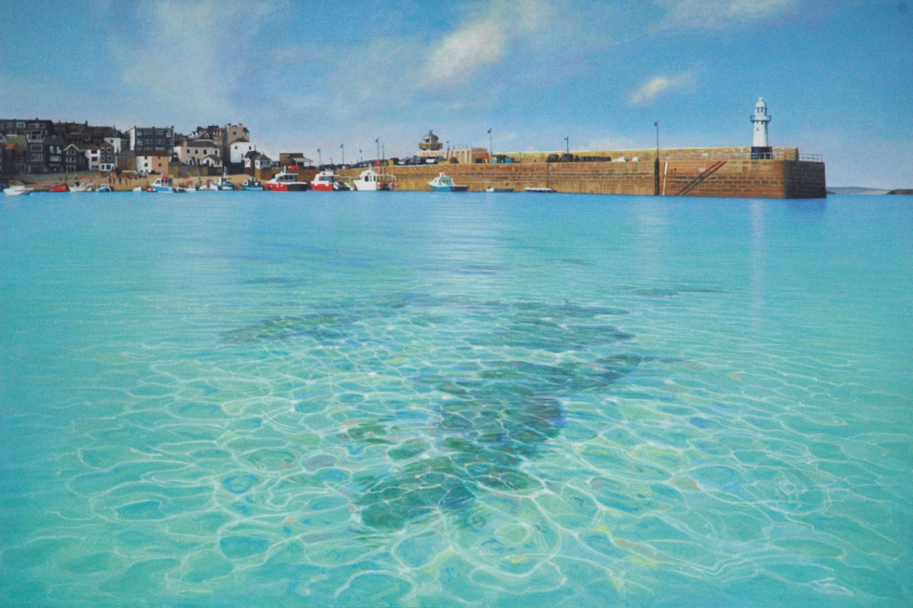 St Ives Harbour by Daniel Hutchings at the Saffron Walden Gallery