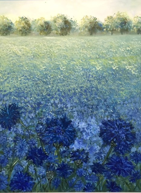 The Blue Field by Elisabetta Mutty at the Saffron Walden Gallery