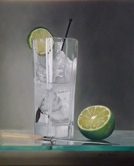 Make Mine a Large One! by Peter Kotka at the Saffron Walden Gallery