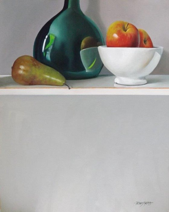 Apples and Pears by Peter Kotka at the Saffron Walden Gallery