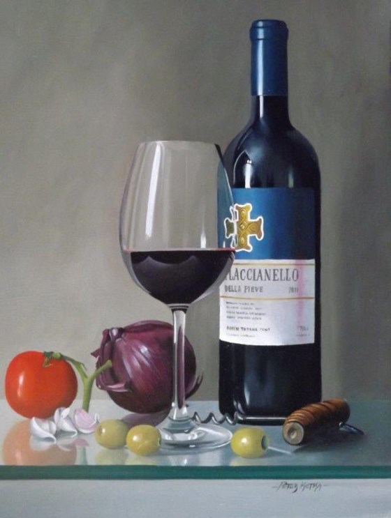 Tuscan Delight by Peter Kotka at the Saffron Walden Gallery