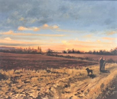 Walking on the North Essex Hills, Wendens Loft by Roger Harvey at the Saffron Walden Gallery