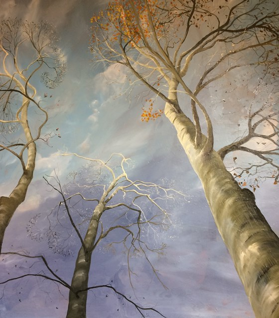 The End of Winter by Debbie Baxter at the Saffron Walden Gallery