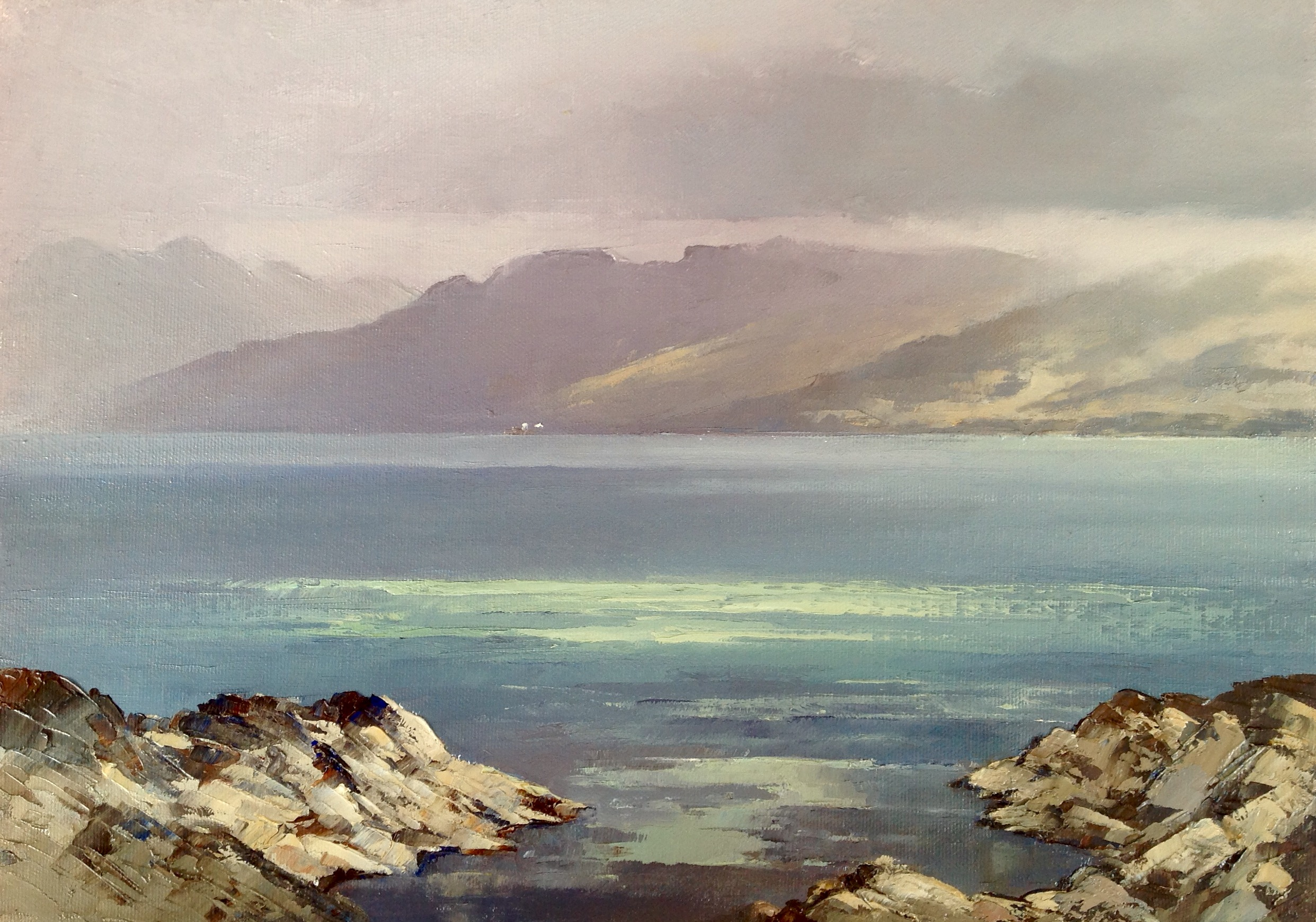 Mist Clearing from Knoydart by William James Swann at the Saffron Walden Gallery