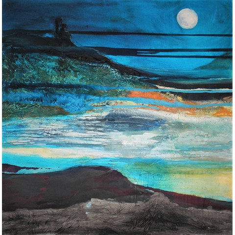 Moonlit Cove by Gail de Cordova at the Saffron Walden Gallery