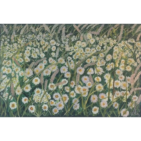 Daisies and Wheat by Elisabetta Mutty at the Saffron Walden Gallery