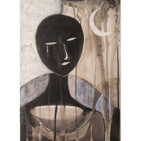 Eternal Face II by Gail de Cordova at the Saffron Walden Gallery