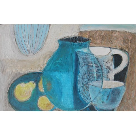Breakfast in Nijar by Gail de Cordova at the Saffron Walden Gallery