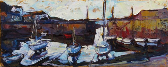 Mousehole Harbour by Susan Isaac at the Saffron Walden Gallery