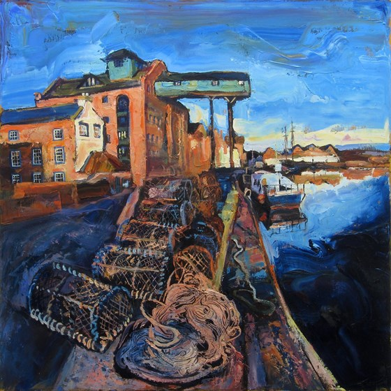 The Granary at Wells Next-the-Sea by Susan Isaac at the Saffron Walden Gallery