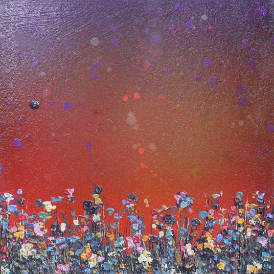 Purple Sunfall by Lee Herring at the Saffron Walden Gallery