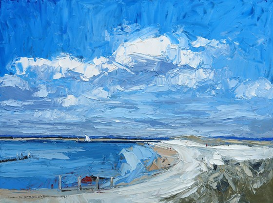 East Head West Wittering  by Daniel Gbenga Orimoloye at the Saffron Walden Gallery