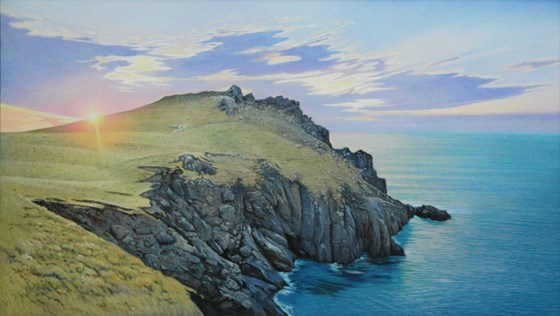 Pembrokeshire Sunset by Daniel Hutchings at the Saffron Walden Gallery