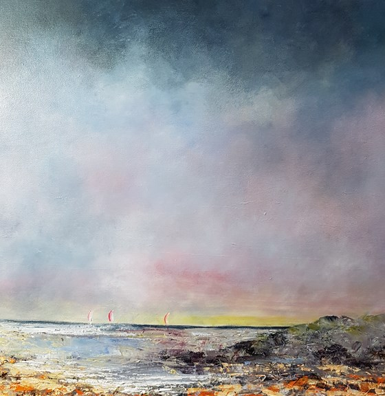 Winter Walk by John Tregembo at the Saffron Walden Gallery