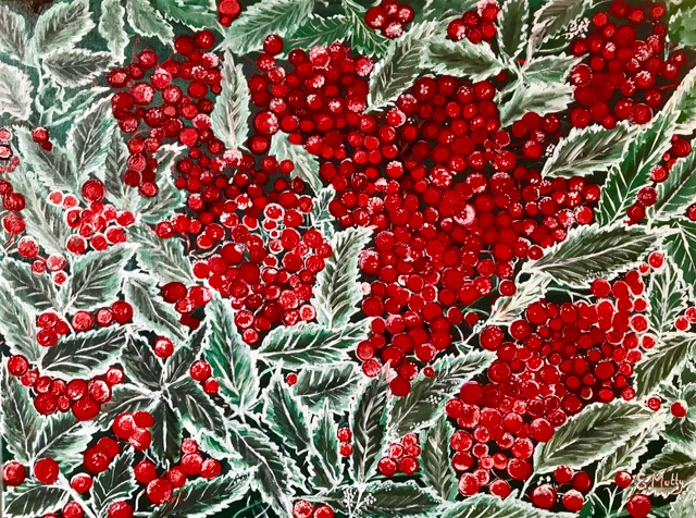 Frozen Berries by Elisabetta Mutty at the Saffron Walden Gallery