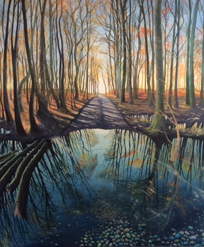 A Road of Reflections by Debbie Baxter at the Saffron Walden Gallery