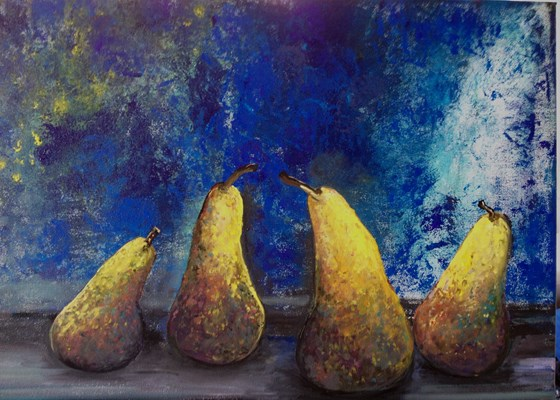 Mystical Pears by Elisabetta Mutty at the Saffron Walden Gallery