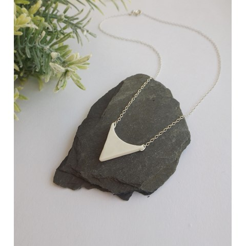 Medium Arrowhead Necklace by Kat Foreman at the Saffron Walden Gallery