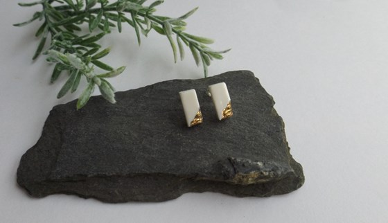 Innate Stud Earrings by Kat Foreman at the Saffron Walden Gallery