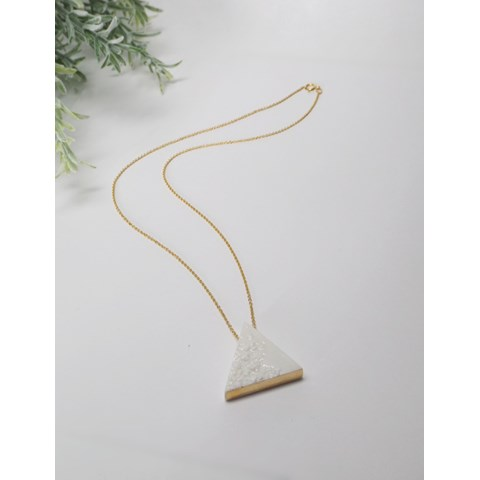 Element Necklace Triangle by Kat Foreman at the Saffron Walden Gallery