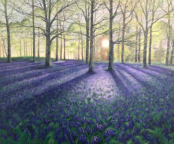 A Thousand Bells of Blue by Debbie Baxter at the Saffron Walden Gallery